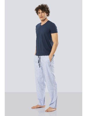Kısa Kollu Poplin Pijama Takım Cacharel 2187/MAVİ
