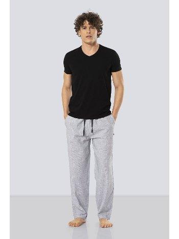 Kısa Kollu Poplin Pijama Takım Cacharel 2187/SİYAH