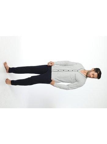 Erkek önü Düğmeli Uzun Kollu Pijama Takım 12034-A Öztaş