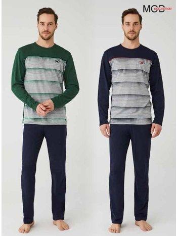 Erkek Pijama Takım %100 Pamuk Mod Collection 3327