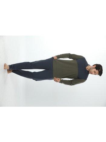 Erkek Polo Yaka Uzun Kollu Pijama Takım 12017-A Öztaş