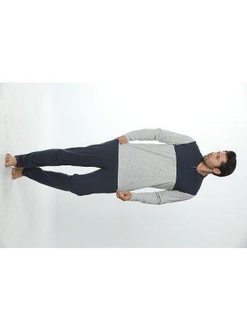 Erkek Polo Yaka Uzun Kollu Pijama Takım 12018-A Öztaş