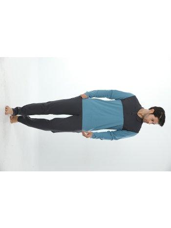 Erkek Polo Yaka Uzun Kollu Pijama Takım 12019-A Öztaş