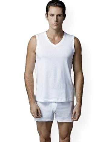 Eros ERS031 Erkek V Yaka 2 li Kolsuz T-Shirt