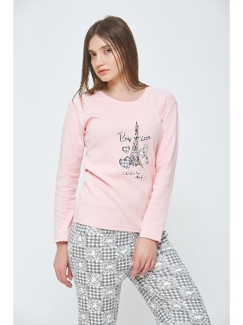 Eyfel Kışlık Penye Pijama Takımı Estiva 20303