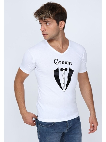 Groom Baskılı T-shirt Asimod ASIGRM04
