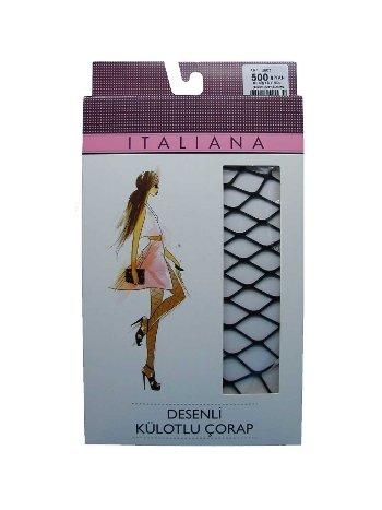 Italiana Geniş File Külotlu Çorap
