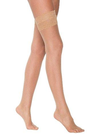 Jartiyer Çorabı Ten Rengi Dantelli Silikonlu ML-1145