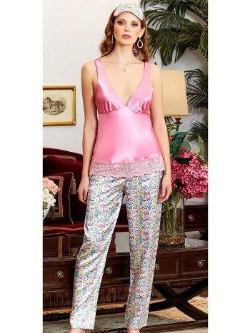 Pembe Askılı Saten Pijama Takım Jeremi 3211
