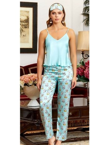 2'Li Saten Askılı Pijama Takım Jeremi 3235