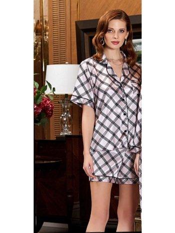 Saten Şortlu 2li Pijama Takım Jeremi 3185