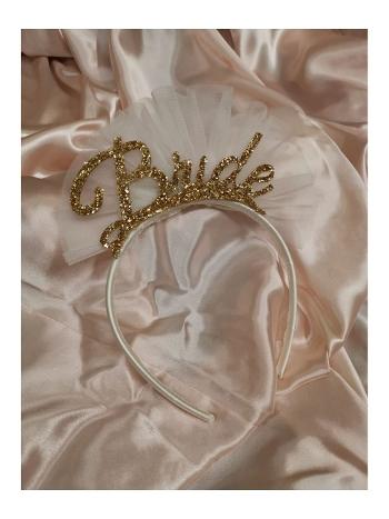 Bride Tütülü Simli Taç Asimod ASI2020TAC09