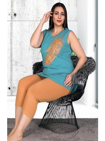 Kadın Büyük Beden Kapri Pijama Takımı Lady 10528