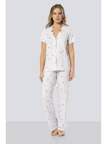 Çizgili Pijama Takımı Türen 3300