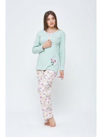 Kadın Kışlık Penye Büyük Beden Pijama Takımı Estiva 20309