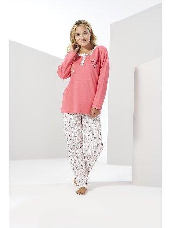 Kadın Kışlık Penye Büyük Beden Pijama Takımı Estiva 20311