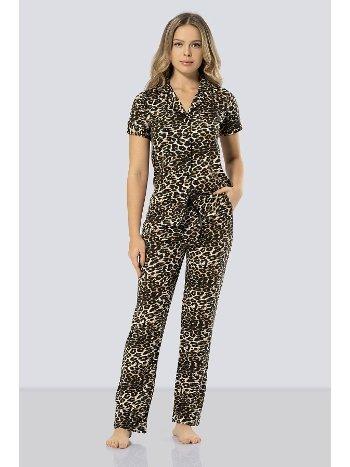 Leopar Desenli Pijama Takımı Türen 3286