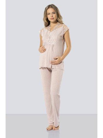 Lohusa Hamile Pijama Takımı Türen 3294/PUDRA
