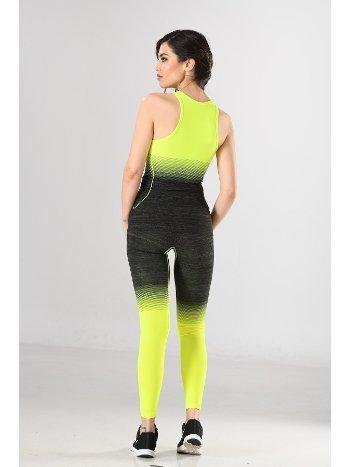 Kadın Sporcu Atlet Tayt Takım Fitness Yoga Pilates Miss Fit 16564T