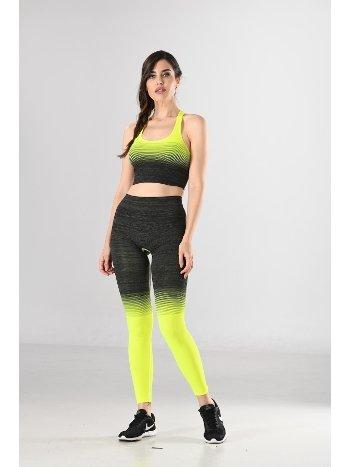 Kadın Sporcu Büstiyer Ve Tayt Takım Örme Seamless Dikişsiz Yoga Fitness Pilates Miss Fit 11177T
