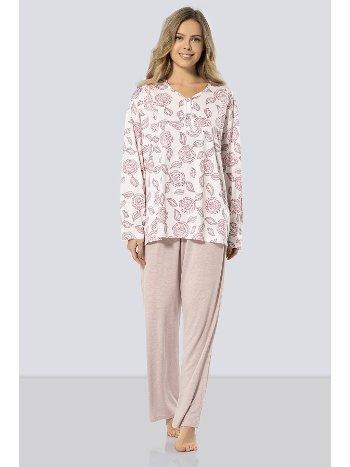 Uzun Kollu Anne Pijama Takım Türen 3319/PUDRA