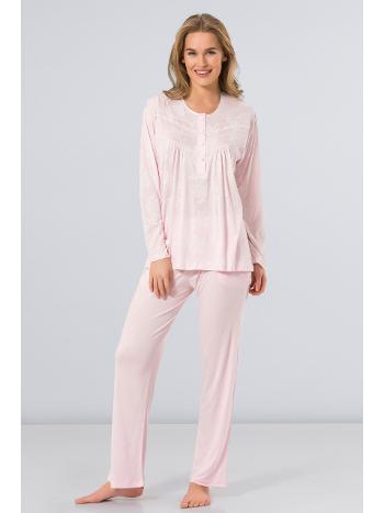 Uzun Kollu Battal Pijama Türen 3276/PEMBE