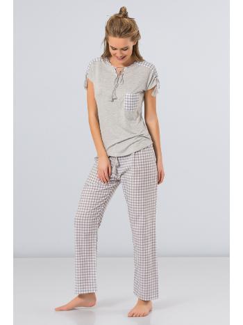Kareli Pijama Takım Türen 3254/GRİ