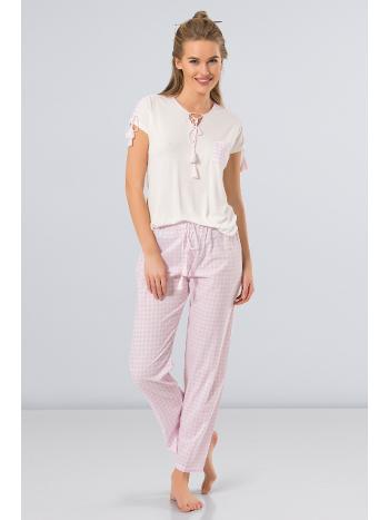 Kareli Pijama Takım Türen 3254/PEMBE