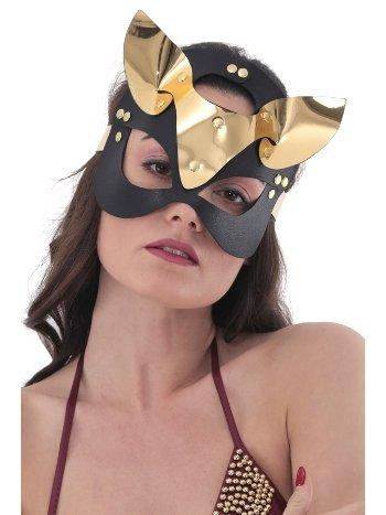 Mite Love Gold Deri Kedi Kız Fantazi Maske ML-5023