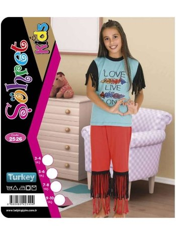 Kısa Kol Takım Kız Çocuk Lady 2526