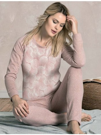 Kışlık Bİsiklet Yaka Pijama Takımı Dowry 09-847