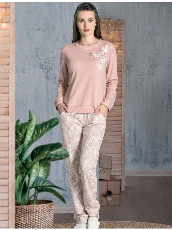 Kışlık Bİsiklet Yaka Pijama Takımı Dowry 09-872
