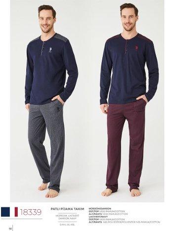 Kışlık Erkek Pijama Takım U.S Polo 18339