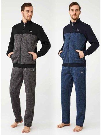 Kışlık Fermuarlı Erkek Eşofman Takım Mod Collection 3305