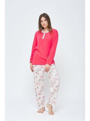 Kışlık Penye Büyük Beden Pijama Takımı Estiva 20313
