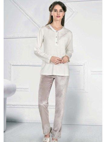 Kışlık Uzun Kollu Pijama Takım FLZ 89-476
