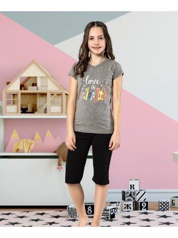 Kız Çocuk Kapri Takım Yuppi HMD 6128