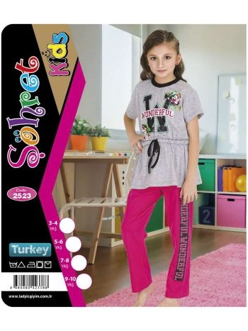Kız Çocuk Kısa Kol Takım Lady 2523