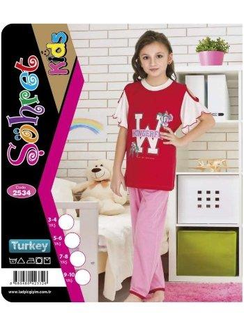 Kız Çocuk Kısa Kol Takım Lady 2534