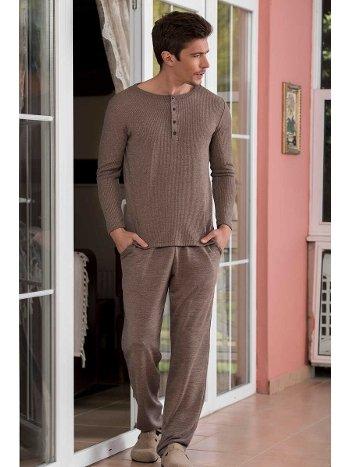 Klasik 2'li Kaşkorse Süprem Erkek Pijama Takımı Yeni İnci EPJ722