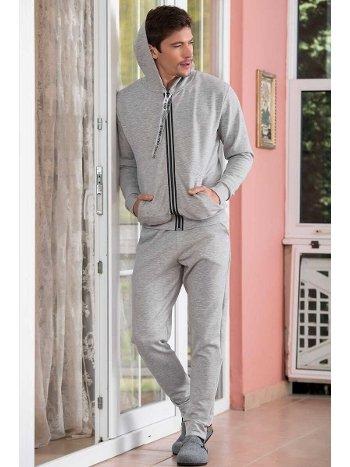 Kpüşonlu 2'li İnterlok Erkek Pijama Takımı Yeni İnci EPJ720