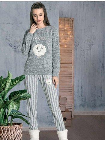 Kuzu Desenli Pijama Takımı Dowry 09-867