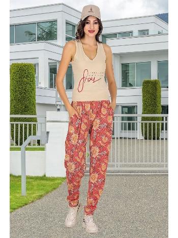 Lady Açık Yaka Şalvarlı Bayan Pijama Takım 10014
