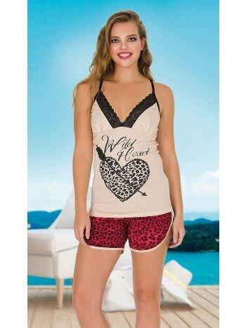 Lady Asklı Dantel Detaylı Şortlu Pijama Takım 7655