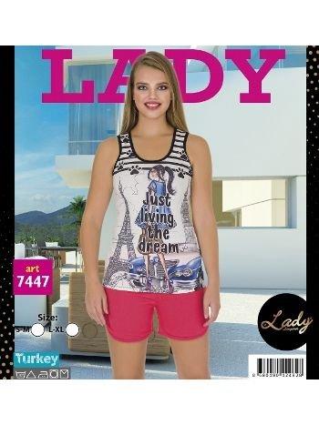 Lady Asklı Şort Pijama Takım 7447