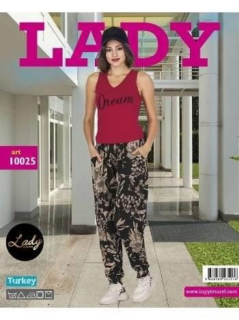 Lady Dream Kısa Kol Bayan Şalvarlı Pijama Takım 10025