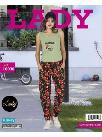 Lady Freedom Kısa Kol Bayan Şalvarlı Pijama Takım 10030
