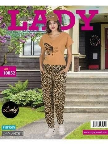 Lady Kelebek Bayan Şalvar Pijama Takım 10052
