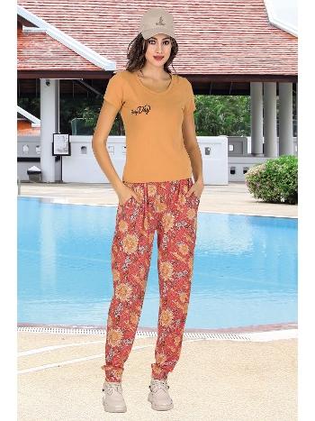 Lady Kısa Kollu Cepli Şalvarlı Bayan Pijama Takım 10013