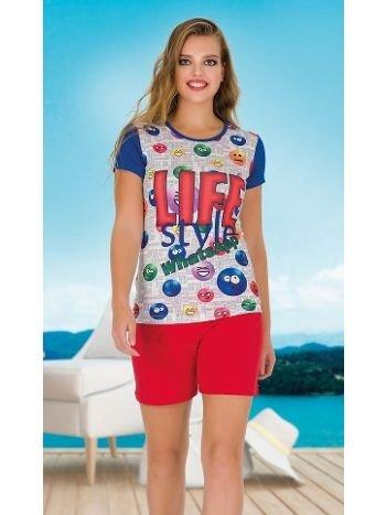 Lady Life Kısa Kollu Şortlu Pijama Takım 7495